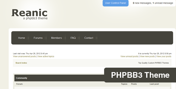 ThemeForest Reanic PHPBB3 Style 2250488