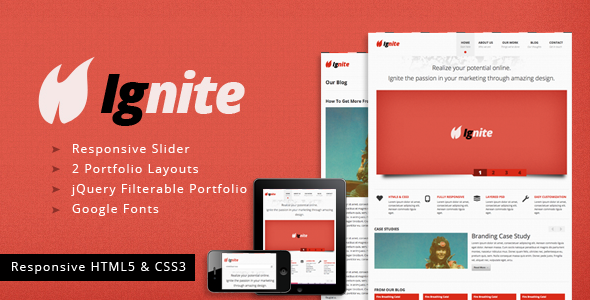 Ignite - A Clean Responsive HTML Template