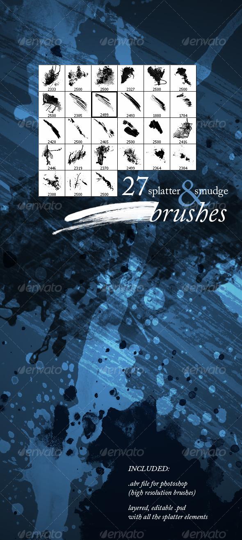 GraphicRiver Splatter & Smudge 84020
