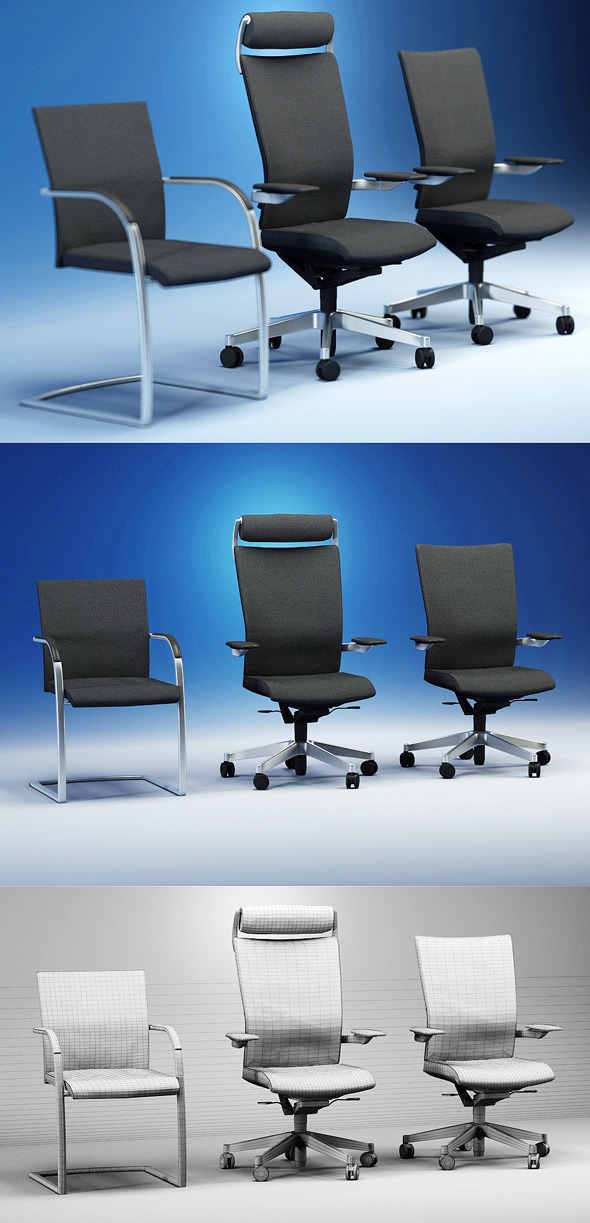 Quality 3dmodel of modern chairs Orbit. Kloeber - 3DOcean Item for Sale