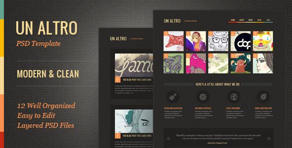 ThemeForest Un Altro Modern PSD Template 2250967