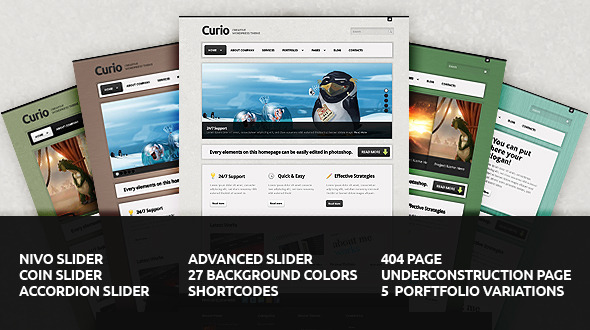 Curio - Clean & Creative Website Template