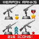 Weapon Icons and Trophies for Military Ranks - GraphicRiver Item for Sale