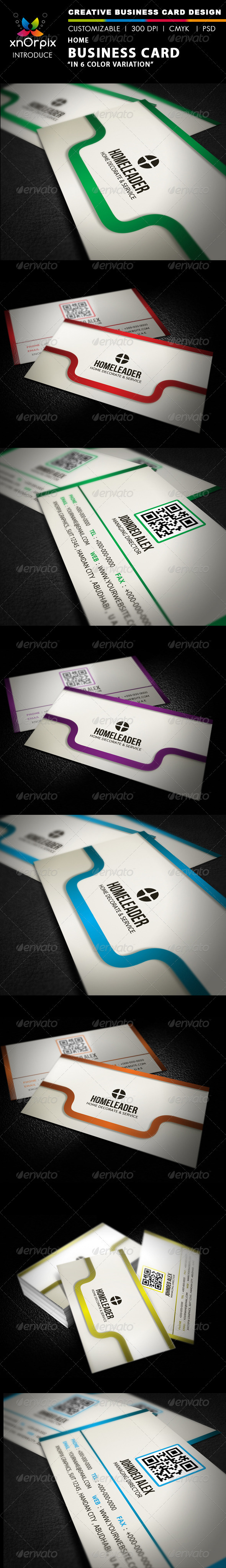 Home Business Card - Business Cards Print Templates
