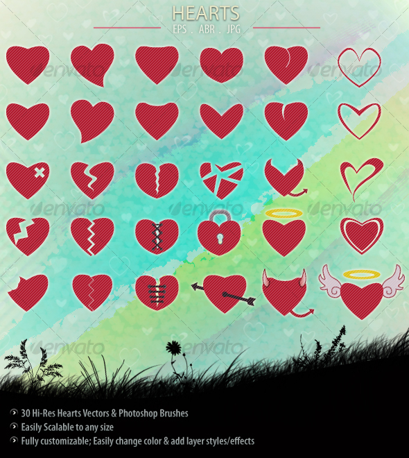 Hearts - Decorative Symbols Decorative