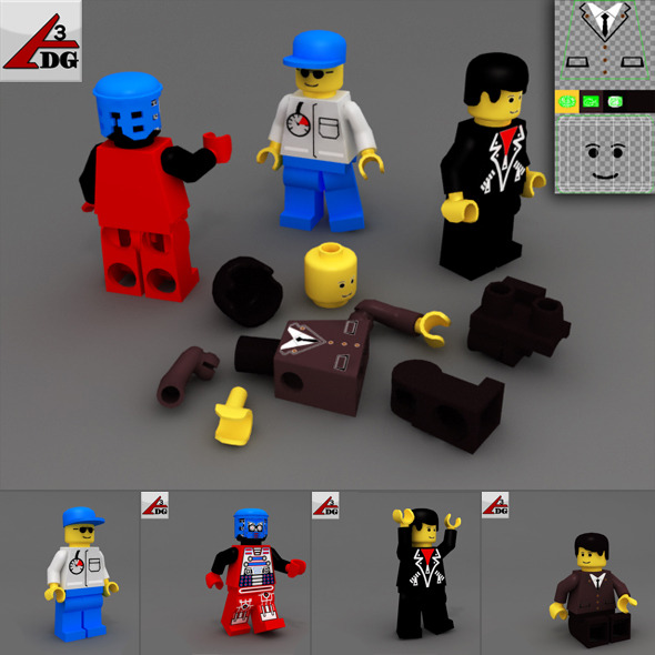 3DOcean PC gaming LEGO 2254919