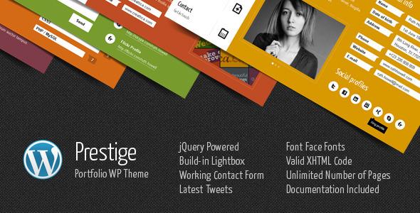 ThemeForest Prestige Portfolio WordPress Theme 2254980