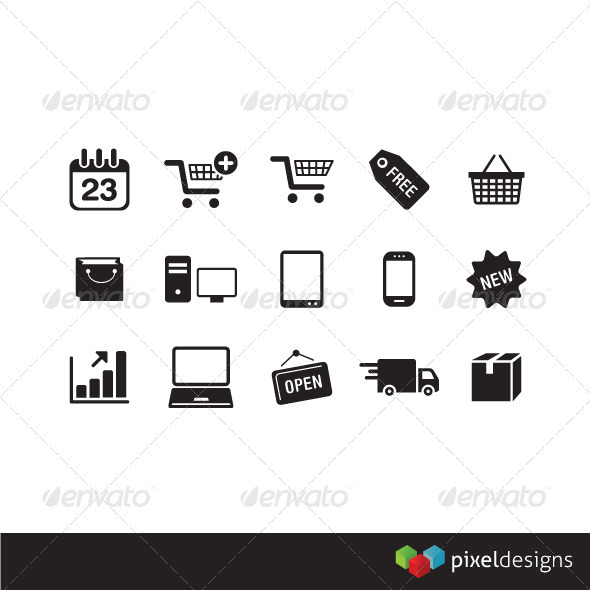 GraphicRiver 15 e-commerce icon 2255476
