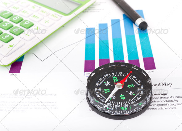 Navigator, Calculator & Forms - Stock Photo - Images