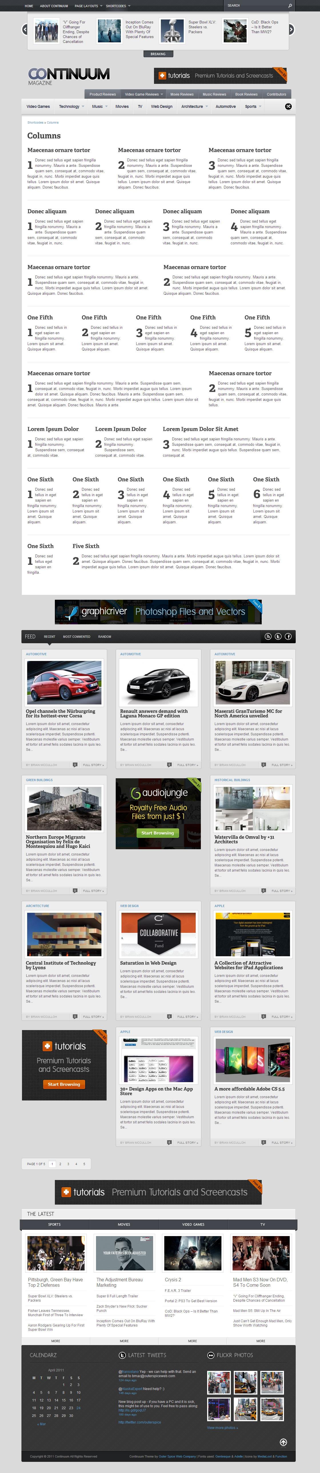 Continuum - Magazine HTML Theme