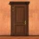Opening wooden door. - VideoHive Item for Sale