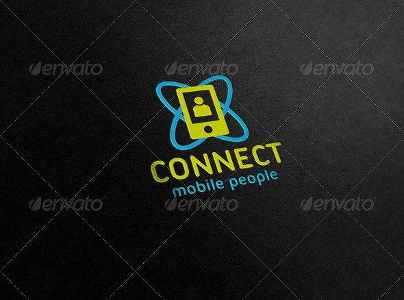 Connect - Mobile People Logo - Symbols Logo Templates