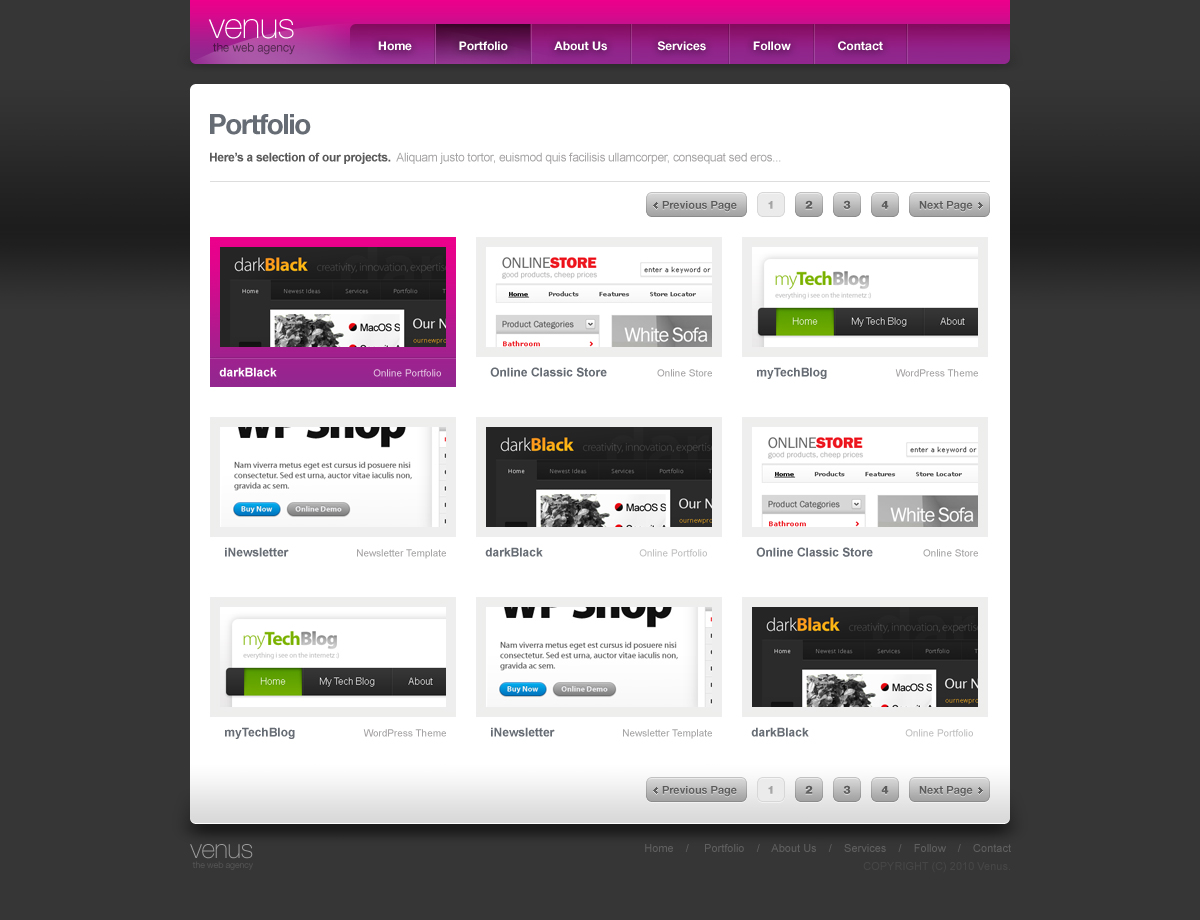 Venus - Online Portfolio