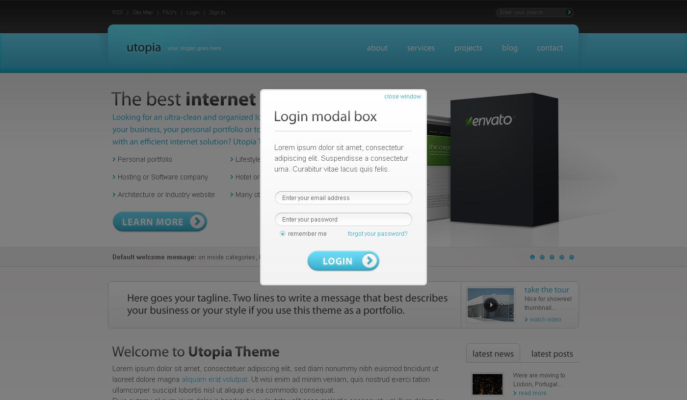 Utopia XHTML Template