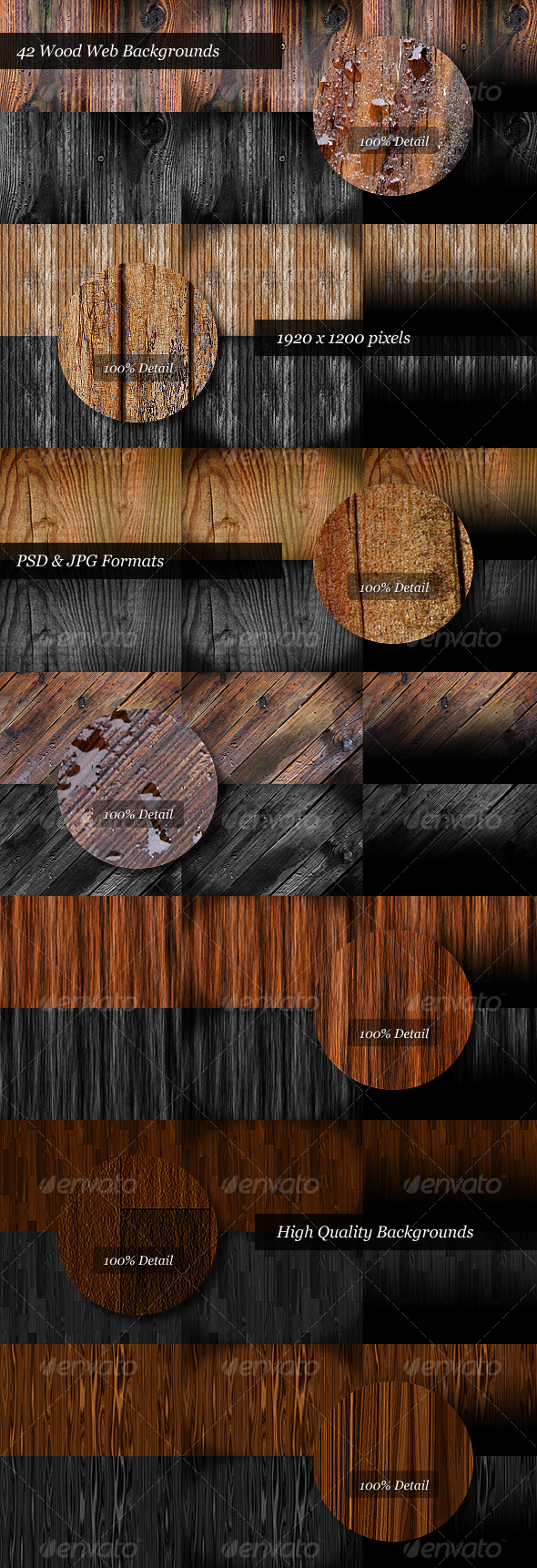 GraphicRiver 42 Wooden Web Backgrounds 84240