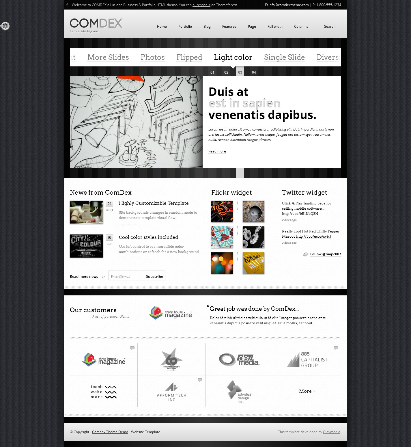 COMDEX — Clean and Modern Website Template