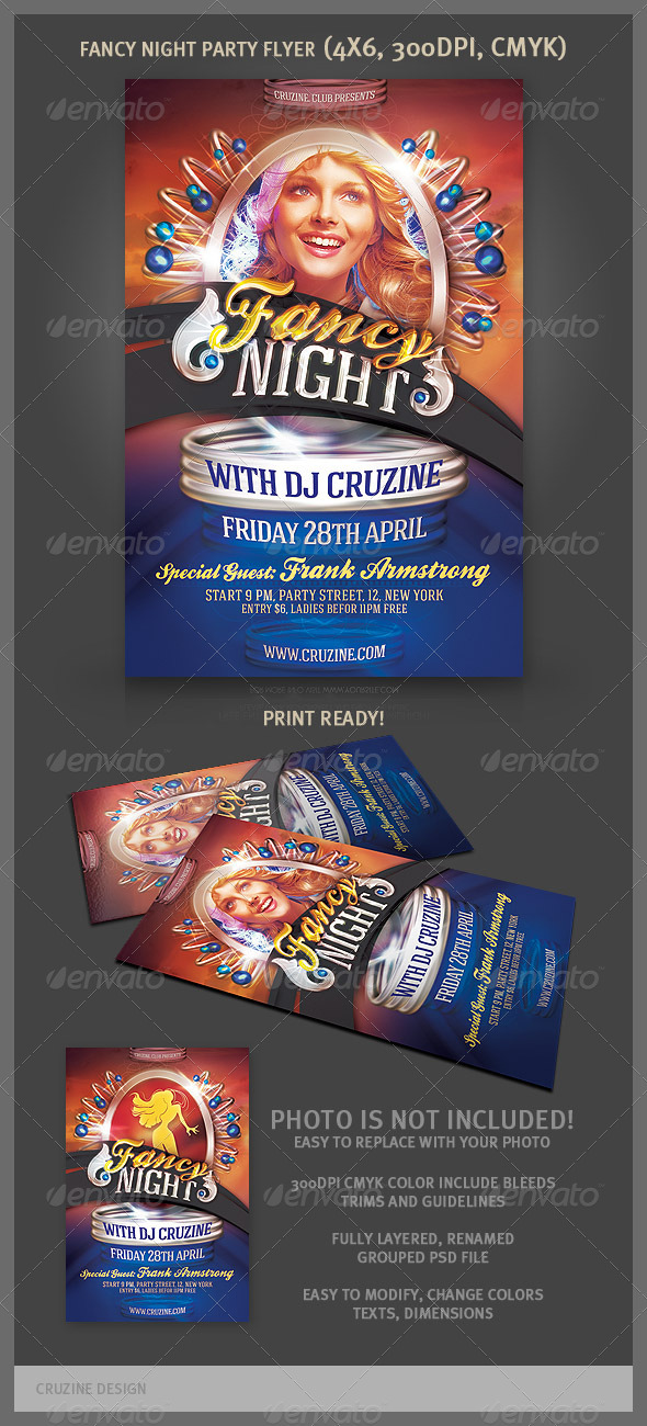 Fancy Night Party Flyer - Clubs & Parties Events