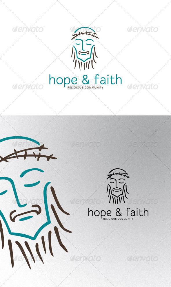 Jesus Christ - Humans Logo Templates