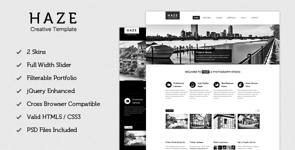 Haze - Beautiful HTML Template