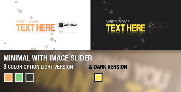 After Effects Project - VideoHive Minimal Image Slider 2261126