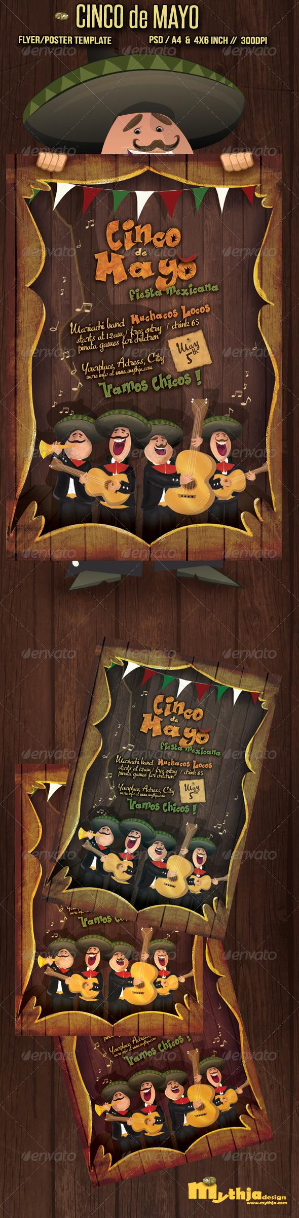 GraphicRiver Cinco de Mayo Flyer Poster Template 2244789