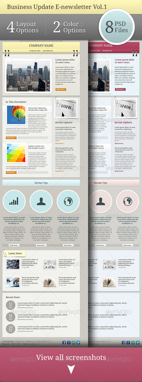 Business Update E-newsletter Vol.01 - E-newsletters Web Elements