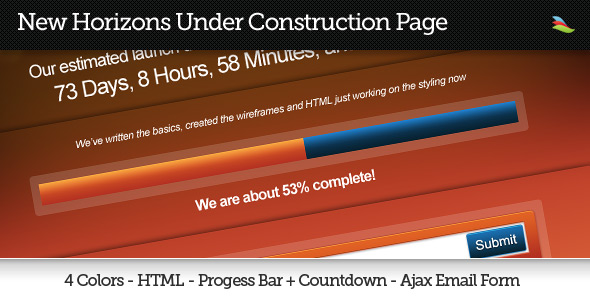 New Horizons Under Construction XHTML/CSS