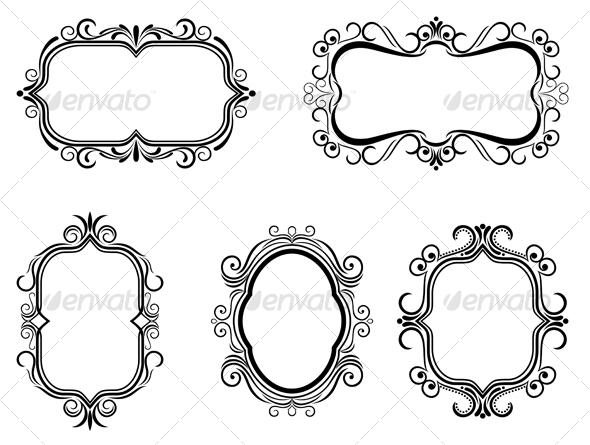 Antique vintage frames GraphicRiver - Vectors - Decorative 84382 ...