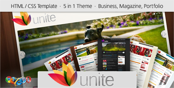 Unite - HTML Business, Magazine, Community Site - ThemeForest Item for Sale