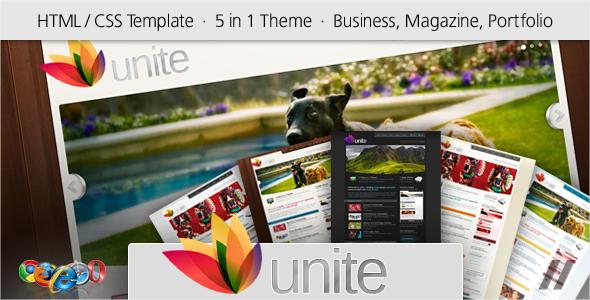 ThemeForest Unite HTML Business Magazine Community Site 84401