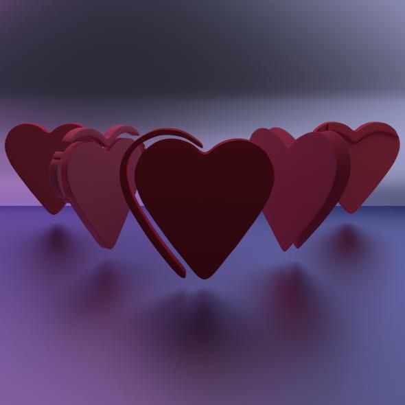 3DOcean Hearts 2263602