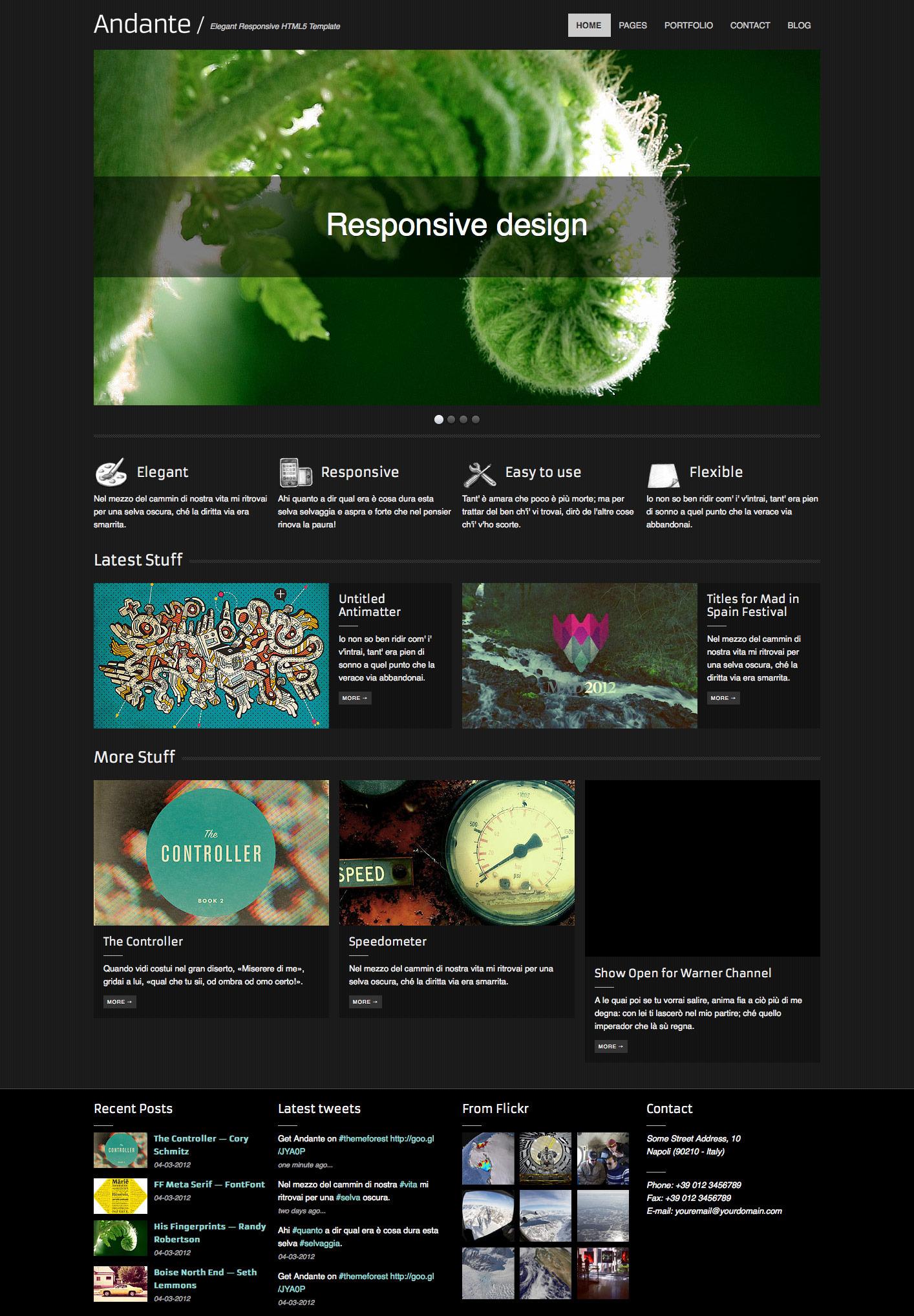 Andante – Elegant Responsive HTML5 Template