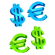 Glossy currency symbols - GraphicRiver Item for Sale