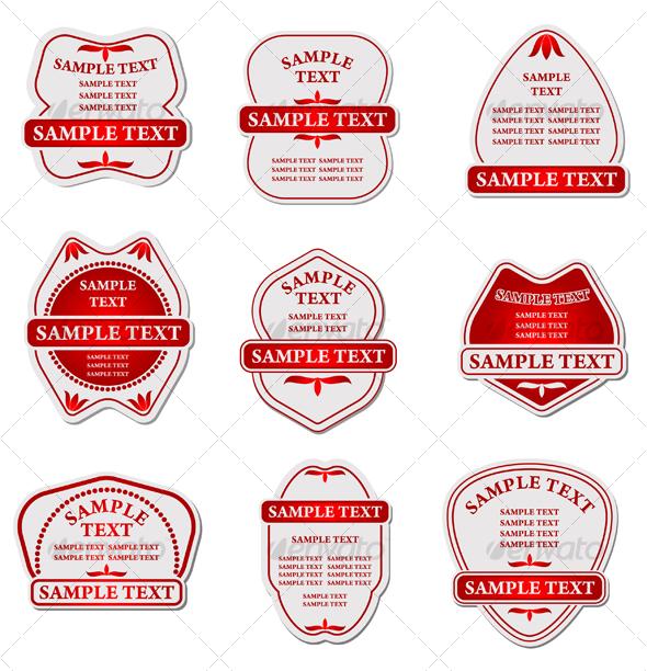 Set of labels for design - Decorative Vectors