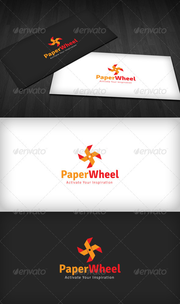 Paper Wheel Logo - Vector Abstract