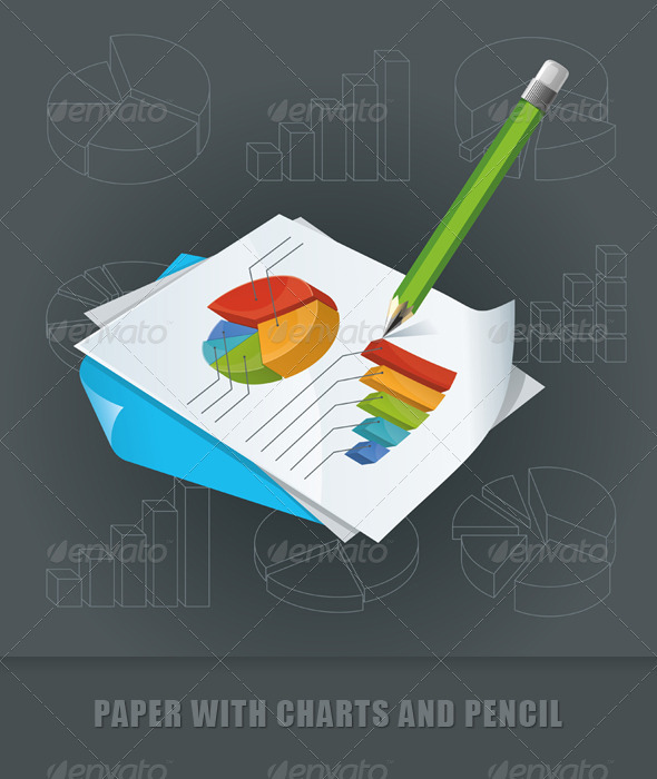 Paper With Charts and Pencil - Concepts Business