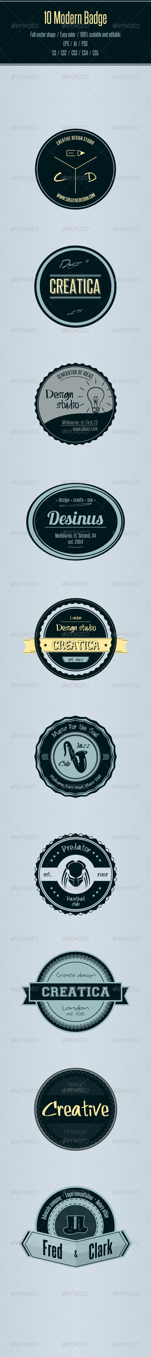GraphicRiver 10 Modern Badge 2266965
