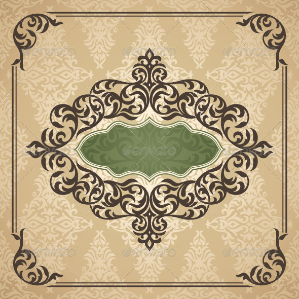 Vintage Frame - Borders Decorative