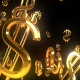 Golden Falling Dollar Signs - VideoHive Item for Sale
