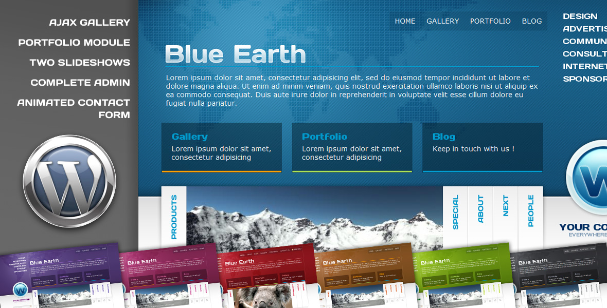 Blue Earth Wordpress theme - Welcome to Blue Earth Wordpress theme screenshots !