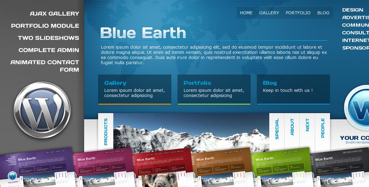 Blue Earth Wordpress theme - Welcome to Blue Earth Wordpress theme screenshots !