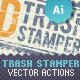 2D Trash Stamper - Vector Actions Pack - GraphicRiver Item for Sale