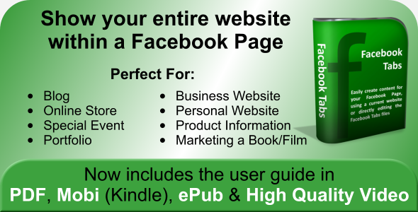 CodeCanyon Facebook Tabs Embed Your Website in Facebook 179852