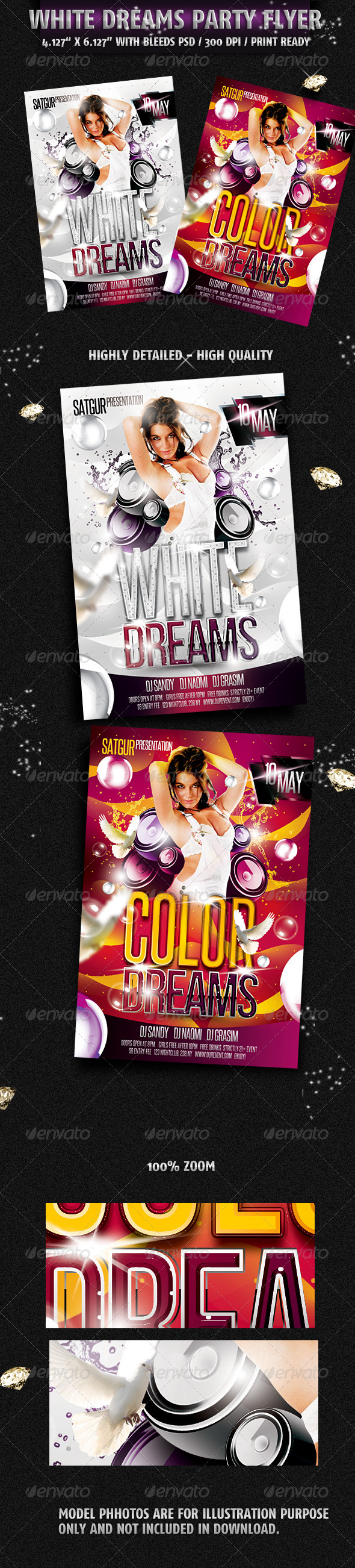 GraphicRiver White Dreams Party Flyer 2274621