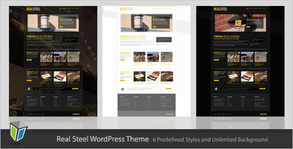 RealSteel - Business and Portfolio WordPress Theme