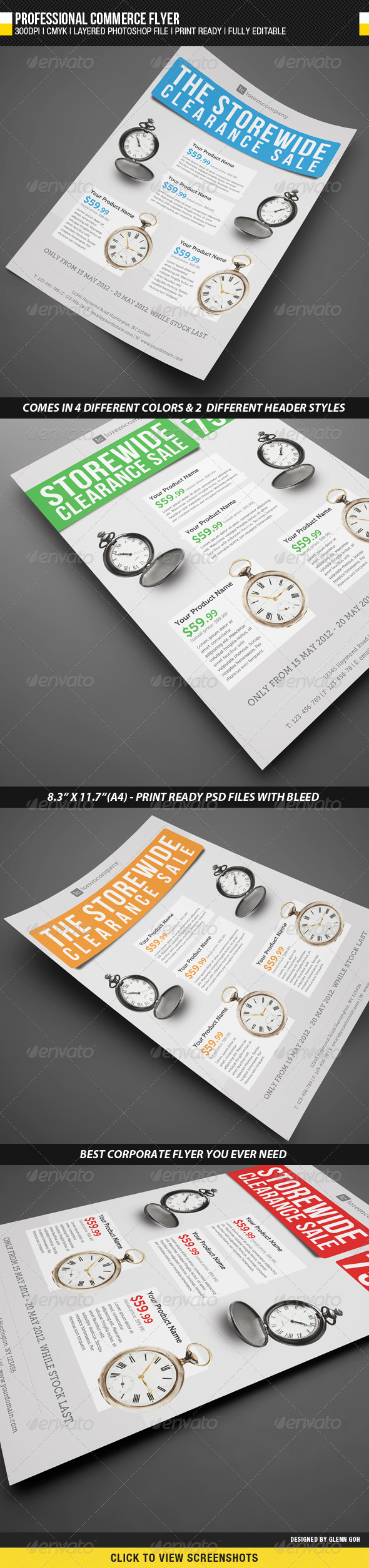 Professional Commerce Flyer - Commerce Flyers