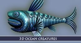 3D OCEAN CREATURES