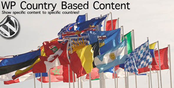 WP Country Based Content - CodeCanyon Item for Sale