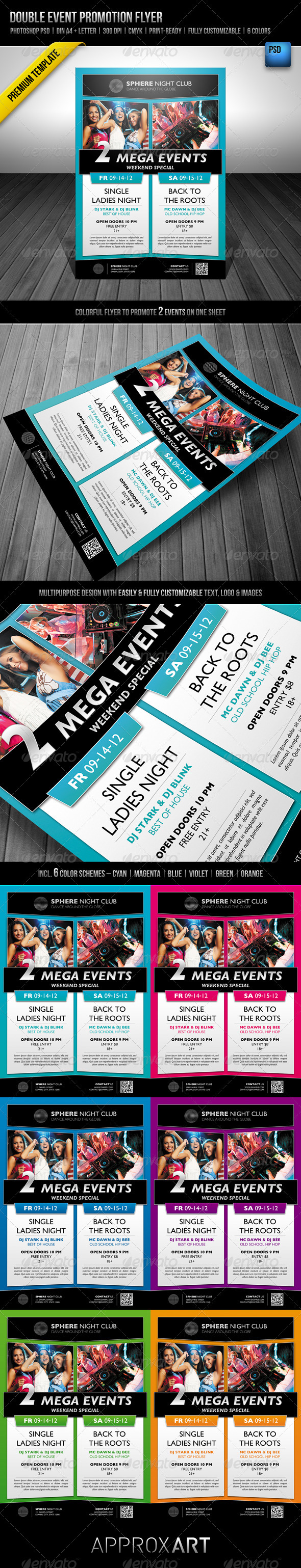 GraphicRiver Double Event Promotion Flyer 2274891