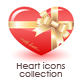 Heart icons collection - GraphicRiver Item for Sale